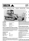 Delta - Model DT-953C - High Production, Track Mounted Tool Carrier - Datasheet