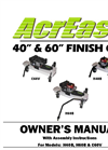 Model H60B - Finish Cut Mower Brochure
