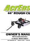 Model MR44V - Rough Cut Mower Brochure