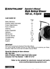 SWB163150E, S-WB-163150-E - Walk Behind Blower Brochure