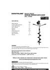 METL Southland - Model SEA438, SEA43 - Earth Auger - Manual