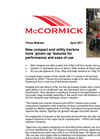 New McCormick X10 Compact Tractor Press Release