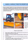 Bunce - Model Mini - Snowploughs for Compact Tractors - Brochure