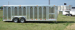 Barrett  - All-aluminum Gooseneck Trailers for Livestock Transportation