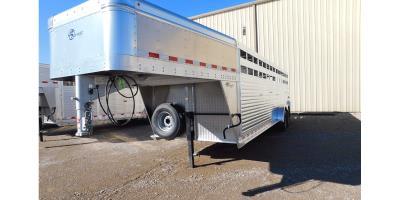 Barrett - Model Slatside Series - Aluminum Gooseneck Livestock Trailers