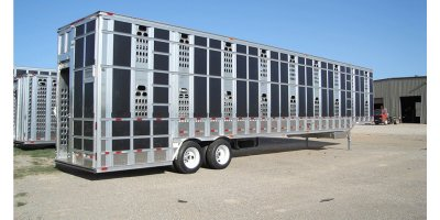 Barrett - Model Punchside Series - Aluminum Ground Load Livestock Trailers