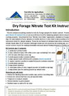 NECi Dry Forage Nitrate Kit Instructions