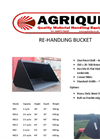 Rehandling Buckets Specification Sheets