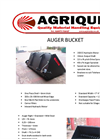 Auger Buckets Specification Sheets