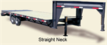 Titan - Model Straight Neck - Flat Beds - Tandem Trailer
