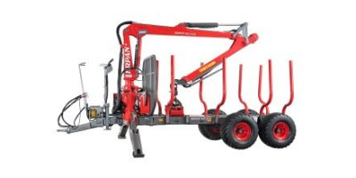 Krpan - Model GP 10 D - Forestry Trailers with Cranes