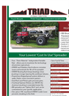 Triad Three Hopper Fertilizer Lime Spreader PDF