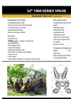 Model 1032-4it – 32 Inch - Tree Spade - 4 Blade Inside Frame - Datasheet