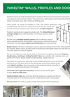 Paneltim - Walls, Profiles and Doors Datasheet