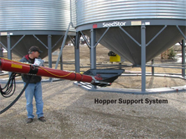 Mobile Grain Auger Hopper Support System (HSS)