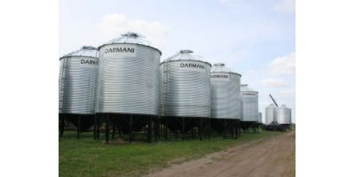 Darmani - Model D-1805HBS-PKG - 18` 4850 Bushel Hopper Cone Grain Bin Package