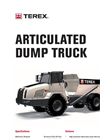 TA250 Articulated Dump Truck Brochure
