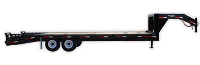 Golden - Single Wheel Flatbed Trailer