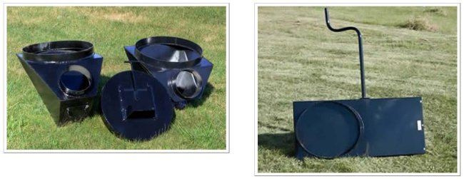 Several styles of auger boots and bottom gates are available for your new or existing bins.
