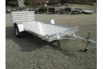 Aluma - Model 6812-H W Bi-Fold Gate - Open Utility Trailer