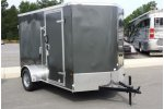 Model 6 x 10 - Charcoal Dbl Rear Enclosed Cargo Trailer