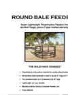 Round Bale Feeders Brochure