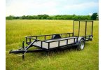 Model SAUT0001 - Single Axle Gated Utility Trailer
