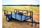 Model SAUT0002 - Utility Trailer With 24in. Top Rail