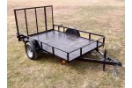 Model SAUT0008 - Gated Single Axle Utility Trailer