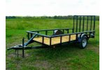 Model SAUT0009 - Pipetop Gated Deluxe Utility Trailer