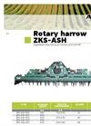 ACKER - ZKS-ASH - Rotary Harrows - Brochure
