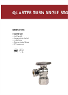 1/4 Turn Angle Stop Valve Brochure