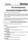Hortisystems - Screening Catalogue