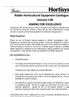 Ridder Horticultural Equipment Catalogue
