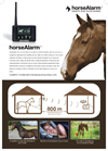 horseAlarm - Horse Monitoring Alarm with Double Alarm Sensors Brochure