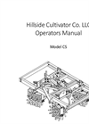 Model CS - Two Channels Cultivator Operators Manual