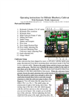 Blueberry Cultivator Operators Manual
