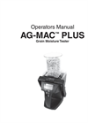 Ag-MAC - Model Plus - Grain Moisture Tester Brochure