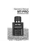 08125 - Model MT-PRO - Portable Grain Moisture Tester Brochure