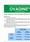 Ovadine - Fish Egg Disinfectant Datasheet