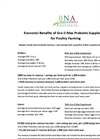 Economic Benefits of Gro-2-Max Probiotic Supplement for Poultry Farming Datasheet