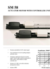 Model SM58 - Actuator Motor with Controller Unit Brochure