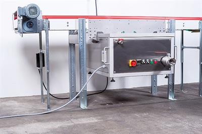 Ultrasound Cleaning Unit for Curve Conveyors