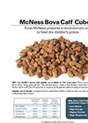 Bova - Protein Calf Cubes Supplements  Brochure