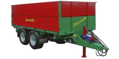 Zaccaria - Model ZAM 110 R - Double Axle Trailers With Hydraulic Threeway Tipping System