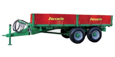 Zaccaria - Model ZAM 110 Special - Double Axle Trailer With Driving-Axle and Hydraulic Three-Way Tipping