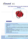 Double Bodyflanged Connection Cast Iron Hydraulic Valve Brochure