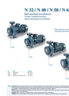Model N 32 / N 40 / N 50 / N 65 / N 80 - Normalized Close Coupled Electro Pumps  Brochure