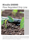 Model D5000 - Flow Regulated Drip Line Brochure