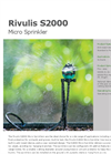S2000 Micro Sprinkler Datasheet